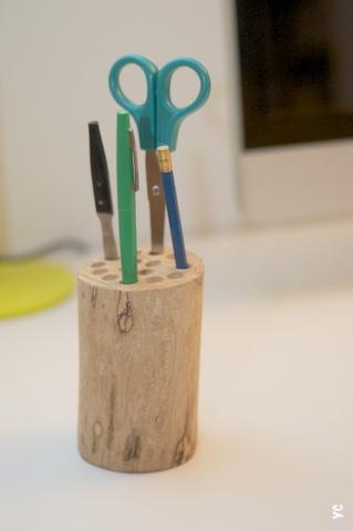 pot crayons bois