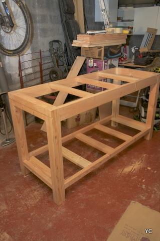 Diy r alisation de mon tabli pas pas partie 1 3 - Fabrication d un meuble en bois ...