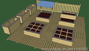 fabriquer potager en carré