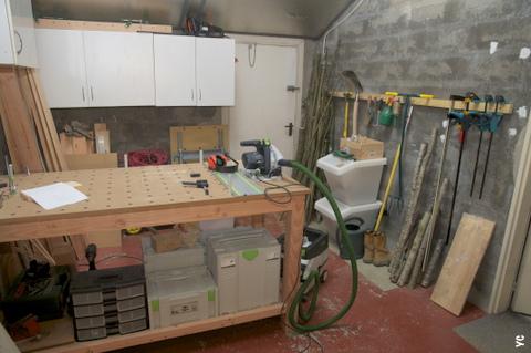 système de rangement des outils dans l'atelier