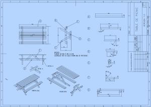plan réalisation table de jardin