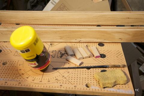 préparation collage bois
