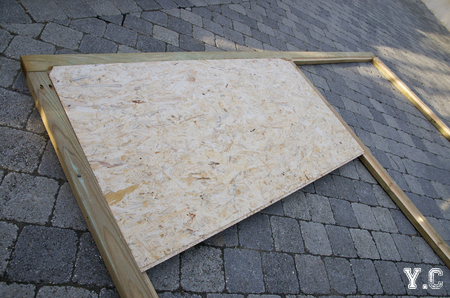 cadre en bois contreventement OSB
