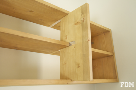 Diy fabrication d 39 une tag re simple - Construire une etagere en bois ...