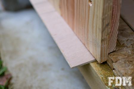 Construction d 39 une cabane de jardin 3 me et derni re partie - Fabriquer un porte outils de jardin ...