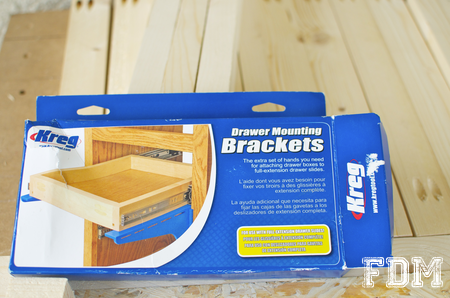 outil kreg installation tiroir