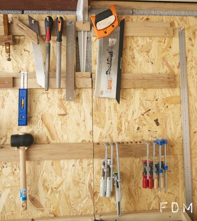 Aménagement de mon atelier – Etape 3 : des rangements muraux …