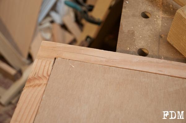 détails cadre bois