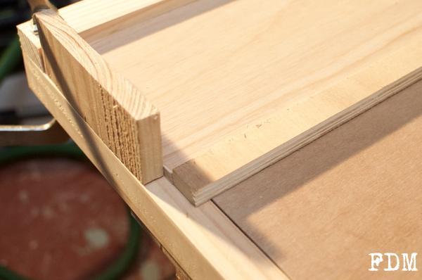 façade tiroir bois