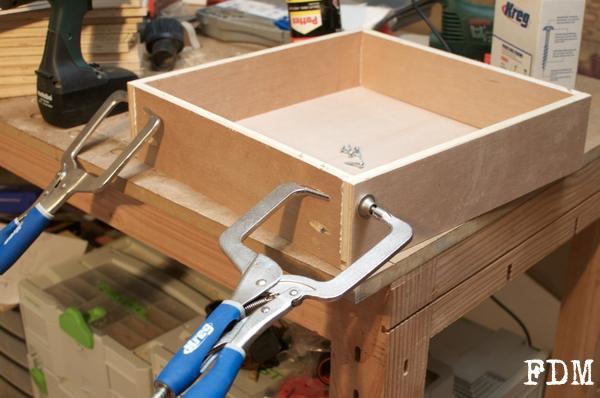 assemblage tiroir bois