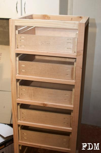 installation tiroirs