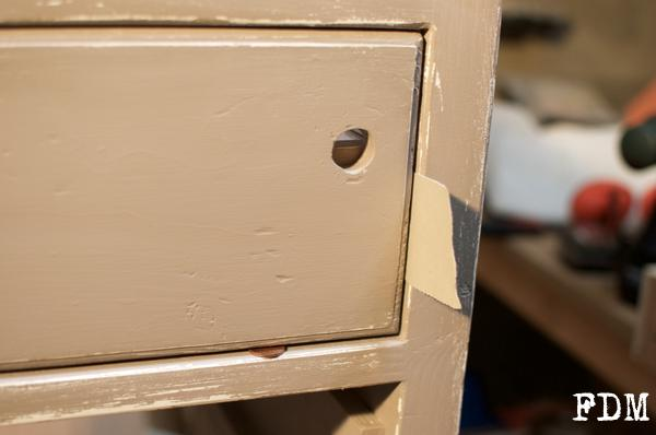 installation façade tiroir