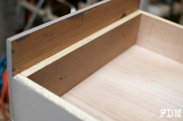 fixation façade tiroir