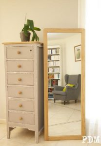 meuble et miroir DIY