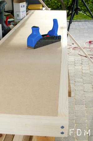 Aménagement de mon atelier – Etape 2 : fabrication d'un plan de travail sur mesure